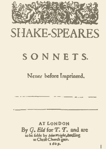 Sonnets Cover page, Wright version